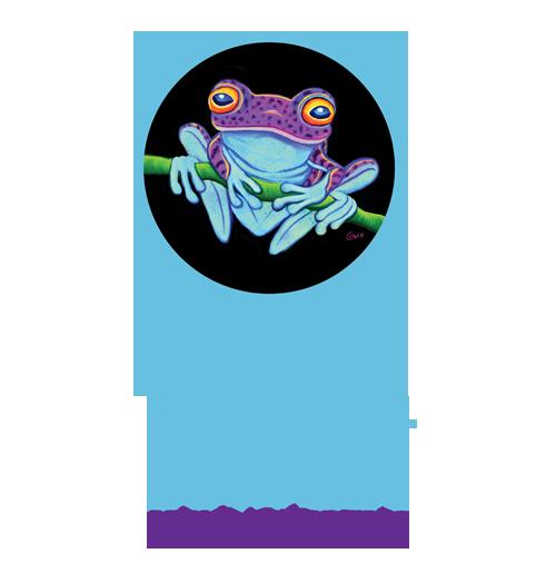 nick gustafson purple frog art
