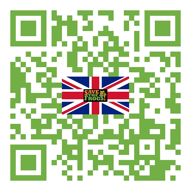 save the frogs uk qr code