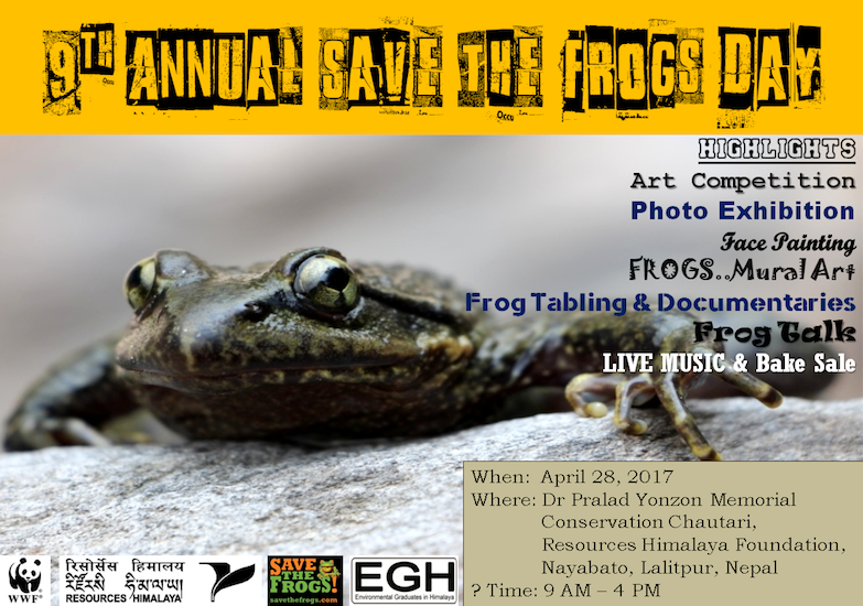 save the frogs day nepal 2017